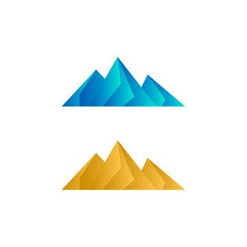 Elegant low poly mountain vector