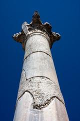 Ancient column under blue sky. Selcuk / Ephesus / Turkey