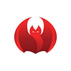 Abstract red flame fierce bat vector