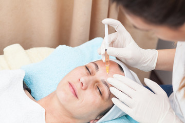 young woman having mesotherapy treatment