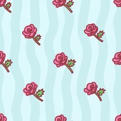 seamless pattern about valentines day. valentines day seamless pattern. background for valentines day. Vector Illustration. rose seamless pattern. floral seamless pattern