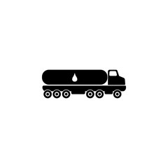 truck carrier fuel icon. Oil an gas icon elements. Premium quality graphic design icon. Simple icon for websites, web design, mobile app, info graphics