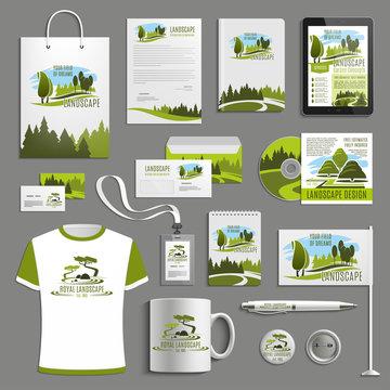 Advertising promo vector item for landscape design