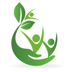 Health nature care logo