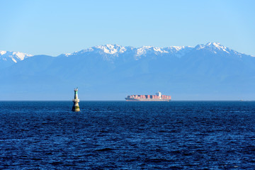 Cargo Container on the Straits of Juan de Fuca