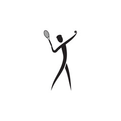 Tennis swing icon. Element of figures of sportsman icon. Premium quality graphic design icon. Signs, symbols collection icon for websites, web design, mobile app