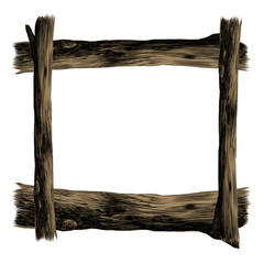 wooden frame sketch vector graphics color picture