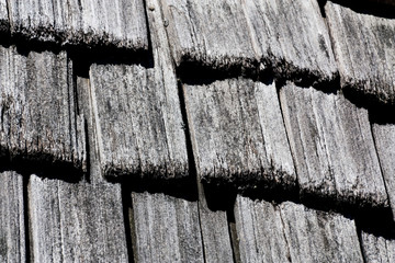 Cedar shingle background texture B&W