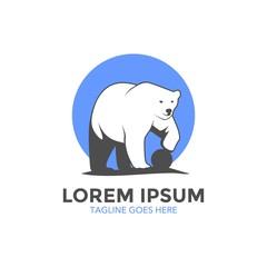 Polar Bear Logo. Vector. Editable