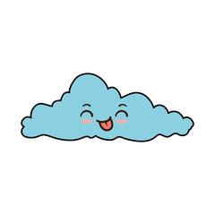 weather cloud kawaii character vector illustration design