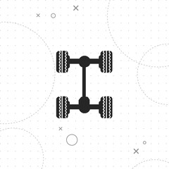 Car chassis icon, Chassis auto icon