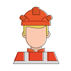 Firefigther faceless avatar icon vector illustration graphic design