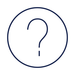 Question mark sign Flat minimal icon vector