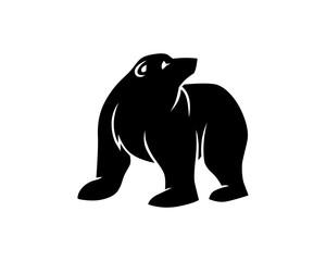 black polar bears fauna animal wildlife image vector icon silhouette