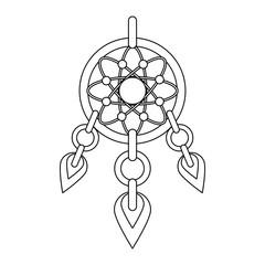Dream catcher symbol icon vector illustration graphic design