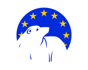 polar bears europe fauna animal wildlife image vector icon silhouette