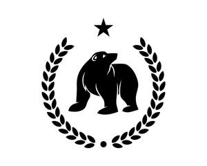 black bear emblem fauna animal wildlife image vector icon silhouette