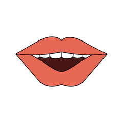 Mouth cartoon isolated icon vector illustration graphic design