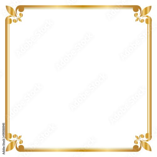 gold frame border square. Decorative Frame And Border , Square, Golden Frame, Vector Illustration Gold Square O