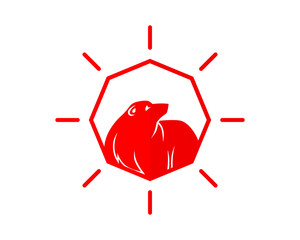 red jewel bear fauna animal wildlife image vector icon silhouette
