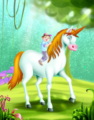 Foto op Plexiglas Pony alphabet