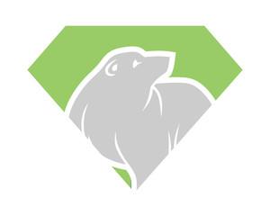 diamond bear fauna animal wildlife image vector icon silhouette