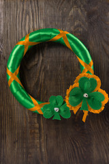Decoration on your door to celebrate St. Patrick's day. Copy paste
