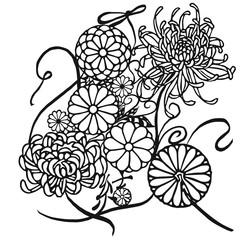 """日本の漢字 """"結""""  : """"connect,knot,tie"""" / Kanji Art with Japanese Pattern"""