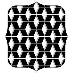 quadrate with pattern seamless shapes background design