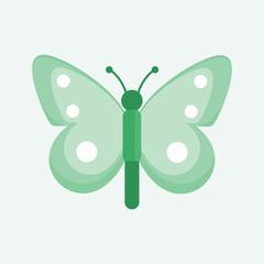 Beautiful Green Cute Butterfly Illustration