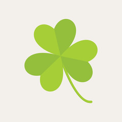 Cute Three Leaf Clover Illustration Graphic
