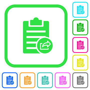 Export note vivid colored flat icons