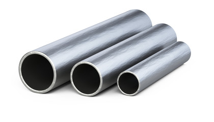 Steel pipes profile.