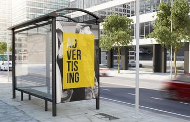 bus stop sale advertising billboard