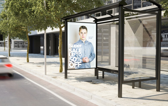 bus stop fashion advertising billboard