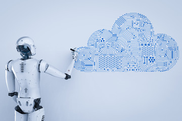 robot with cloud