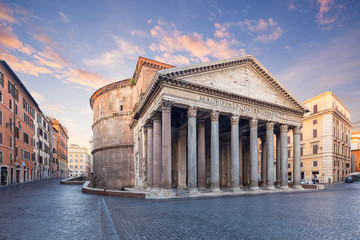 view of Pantheon in the morning. Rome. Italy. Fototapete