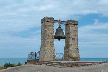 Russia, Crimea, Sevastopol - the bell of Chersonesos is a monument of history of the city of Sevastopol, located in Quarantine Bay of Hersonissos