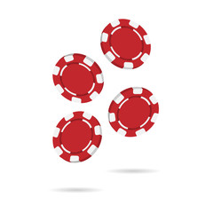 Vector image of chips for the casino 3D objects.