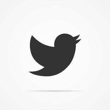 Vector image of a bird icon.