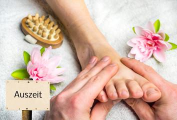 Auszeit mit einer Fußmassage