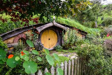 Auckland,New Zealand  -April 29,2016:Hobbiton Movie Set