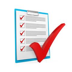 Clipboard Checklist Isolated
