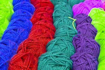 pelotes de laine couleurs