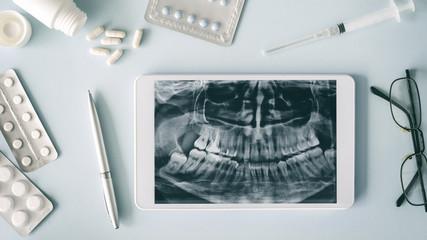 Dental medical equipments, health care concept