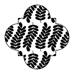 cute label floral pattern seamless branch spring natural vector illustration black and white design