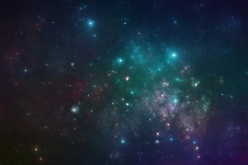 Deep space starfield, fantasy galaxy illustration
