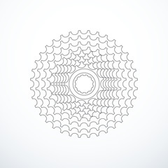 Vector bike cassette isolated