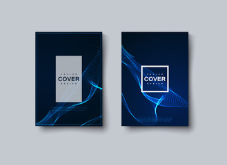 Neon light abstract shape covers design.