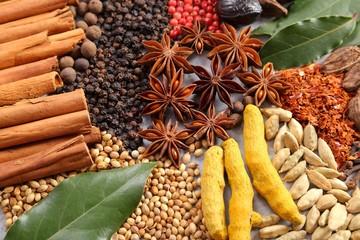 Fotorolgordijn Kruiden Herbs and spices.